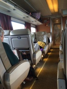 アムトラック列車 車内