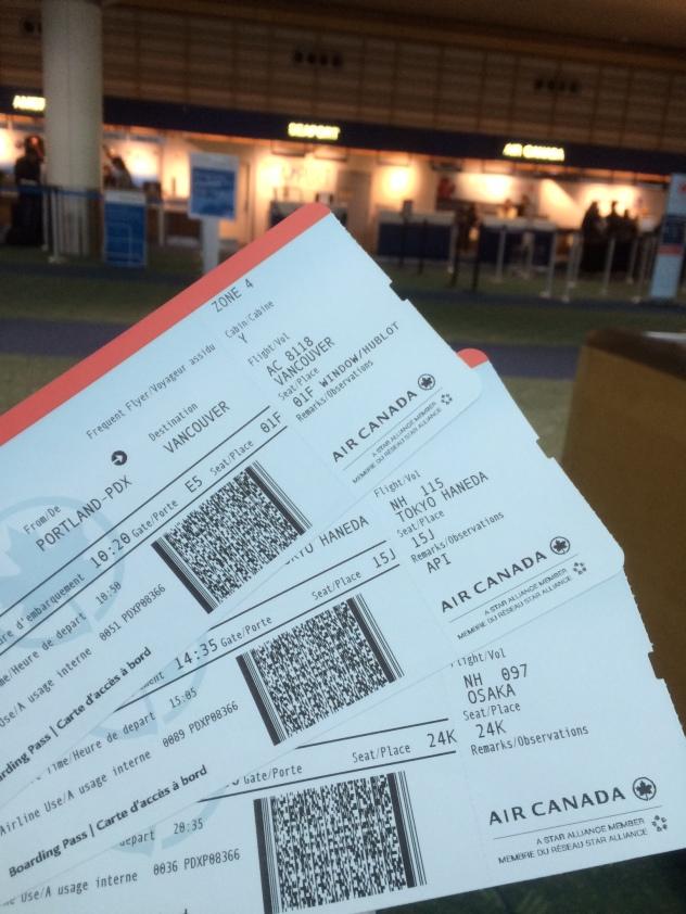3枚に渡る航空券